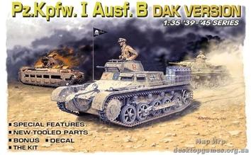 Немецкий танк PzKpfw I Ausf. B, DAK Version