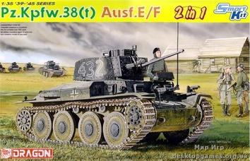 Немецкий танк Pz Kpfw 38(t) Ausf E / F