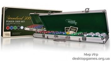 Покерный набор на 500 фишек в кейсе