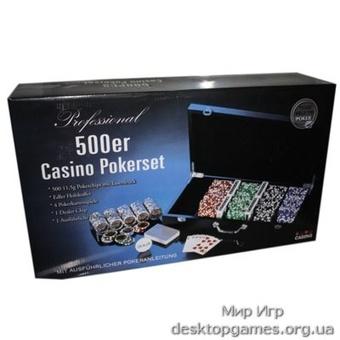 Покерный набор на 500 фишек, кейс дерево - фото 2