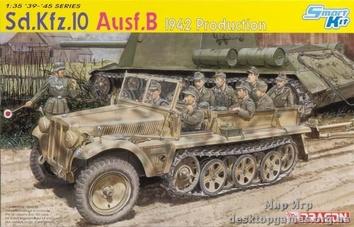 Полугусеничный тягач Sd.Kfz.10 Ausf.B 1942