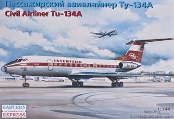 Пассажирский авиалайнер Ту-134А