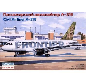 Модель пассажирского авиалайнера А-318