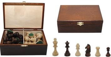 Шахматные фигуры Staunton N 7 коричневые в коробке