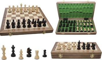 Шахматы OLIMPIC Small Intarsia, орех