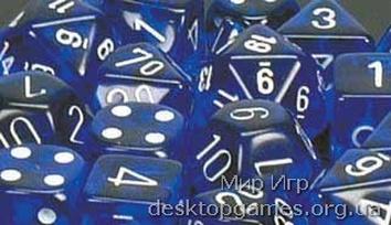 Кубики Chessex: набор из 7 кубиков: Blue w/white