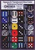 Кубики Chessex: набор из 24 кубиков D6 разных цветов