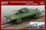 Модель советского артиллерийской платформы с башней T-34