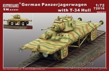 Модель артиллерийской платформы с башней Т-34