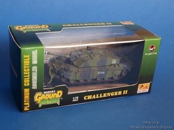 Собранная коллекционная модель танка Челленджер 2