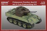 Модель зенитного танка Пантера Ausf.D 3.7cm