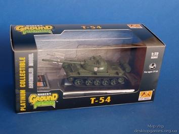 Собранная коллекционная модель танка T-54