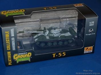 Коллекционная модель среднего танка Т-55 армии СССР
