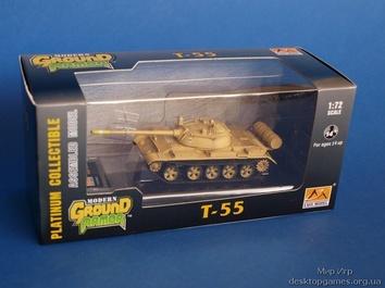 Собранная коллекционная модель танка T-55