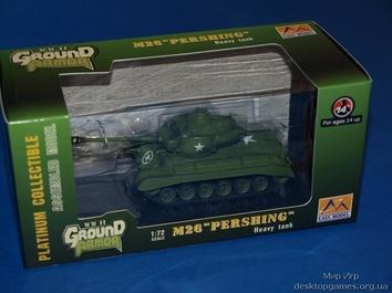 Собранная коллекционная модель танка M26 «Першинг»