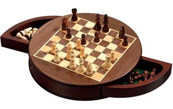 Шахматы  круглые  магнитные Philos 2727