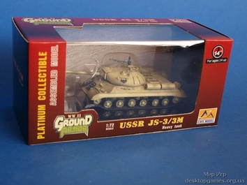 Собранная коллекционная модель танка JS-3
