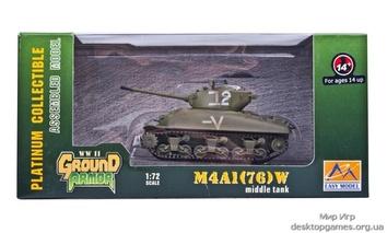Готовая модель американского танка M4A1(76) «Шерман»