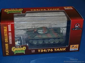 Собранная модель танка Т34/76