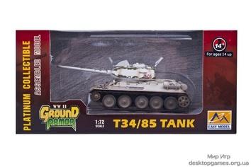 Готовая модель советского танка T-34/85 (зимний камуфляж)