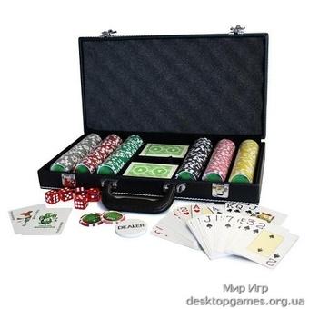 Покерный набор на 300 фишек, кейс кожзам