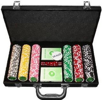 Покерный набор на 300 фишек, кейс кожзам - фото 2