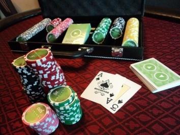 Покерный набор на 300 фишек, кейс кожзам - фото 4