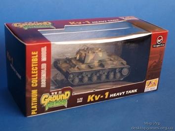 Собранная коллекционная модель танка КВ-1