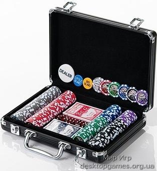 Покерный набор 200 фишек, кейс, С2