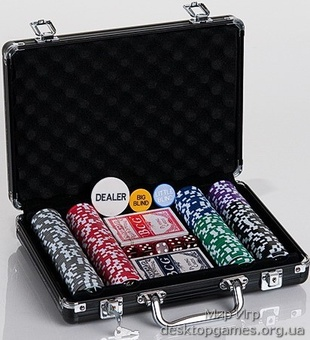 Покерный набор 200 фишек, кейс, С2 - фото 4