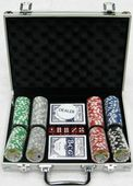 Покерный набор 200 фишек c номиналом, кейс