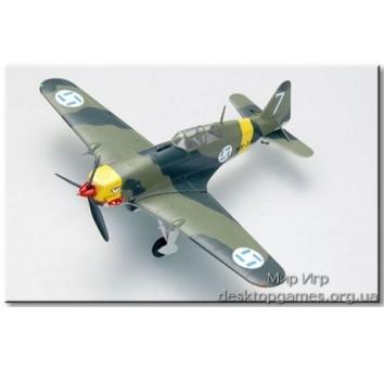 Склеенная коллекционная модель самолета Моран-Солнье MS.406
