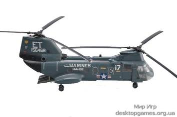 Стендовая модель вертолета CH-46F