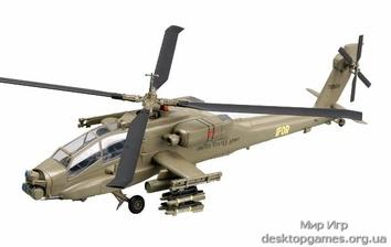 Стендовая модель вертолета AH-64A