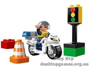Lego «Полицейский мотоцикл» Duplo 5679