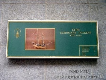 Модель деревянного корабля Лиде (LYDE – Schooner Inglese)