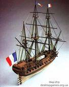 Модель деревянного корабля Ла Реномме (La Renommee – Fregata Francese)