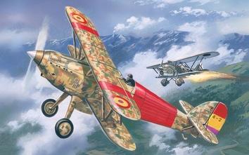 Hawker Fury Spanish Морской истребитель-биплан ВВС Испании