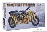 Мотоцикл с коляской Zundapp KS 750 (Цюндапп) и прицепом