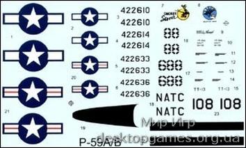 Bell P-59A/B Первый реактивный истребитель США - фото 2