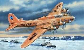 Пе-8 Советский тяжелый бомбардировщик