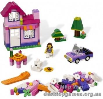 Lego Розовая коробка с кубиками Лего Creator 4625
