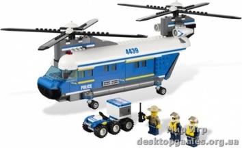 Lego «Полицейский грузовой вертолет» City 4439