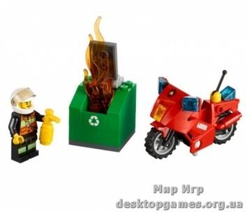 Lego «Пожарный на мотоцикле» City 60000