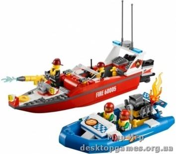Lego Пожарный катер 60005