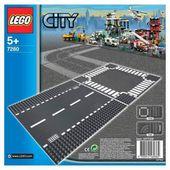 Lego «Прямая трасса и перекресток» City
