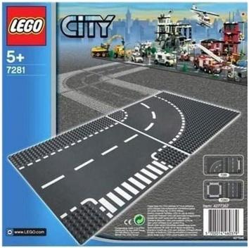 Lego «Т-образный перекресток и поворот» City
