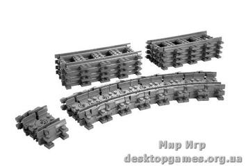 Lego «Гибкие пути (рельсы для поездов 7938 и 7939)» City 7499