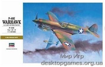 HA08879 P-40E Warhawk Texas Longhorn w/ Pilot Figure, Drop Tank