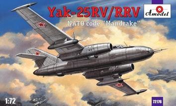 Пластиковая модель истребителя-перехватчика Як-25РВ/РРВ